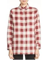 maje-crunch-plaid-cotton-shirt-red